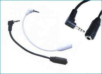 2.5 Male to 3.5 Female converter cable