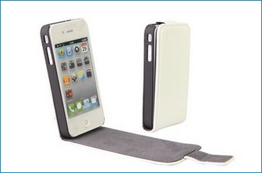 Leather Case for iPhone 4 - White