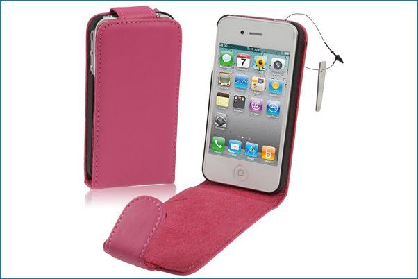 Funda piel para iphone 4 4s rosa - Funda de piel para iphone 5 ...