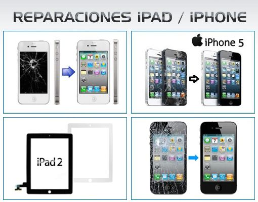 REPARACIONES DE iPAD y iPHONE