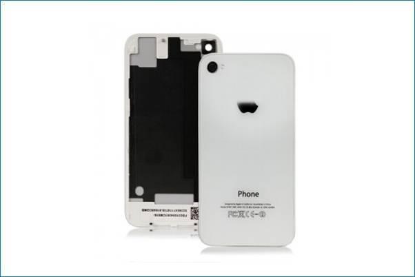 a00ddfcf608 RECAMBIO TAPA TRASERA BLANCA PARA IPHONE 4,