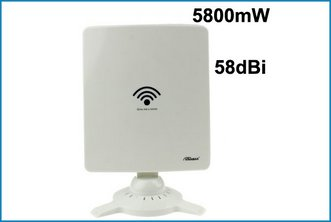 Adaptador WIFI USB Panel Kinamax 5800mW + 58 dBi