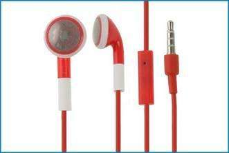 Auricular + Micrófono compatible iPhone, iPod. Rojo