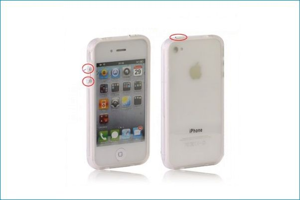 Bumper TPU para iPhone 4/4S . Transparente