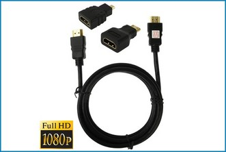 Kit Cable HDMI + Adaptadores Mini/Micro HDMI