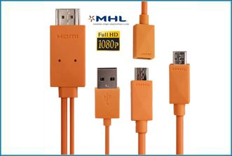 Cable MHL MicroUSB a HDMI MHL Galaxy S2 / S3