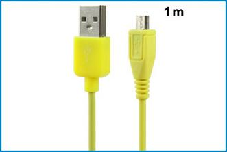 CABLE MICRO USB - AMARILLO