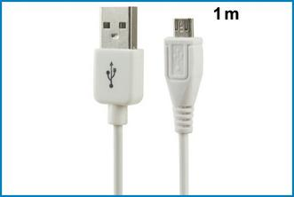 CABLE MICRO USB - BLANCO