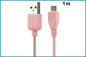 CABLE MICRO USB - ROSA