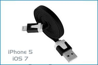 CABLE USB IPHONE 5 / IPAD MINI LIGHTNING . 1M NEGRO