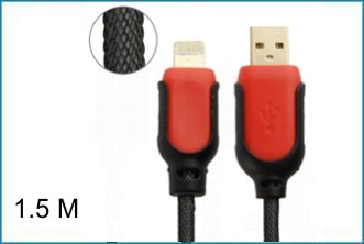 CABLE USB IPHONE 5 LIGHTNING - NYLON - 1.5 metros