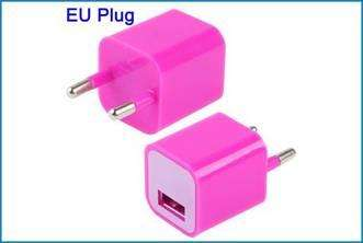 Adaptador Cargador Pared USB - 5V - Fucsia