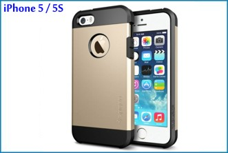Funda Antigolpes para iPhone 5 / 5S . Golden