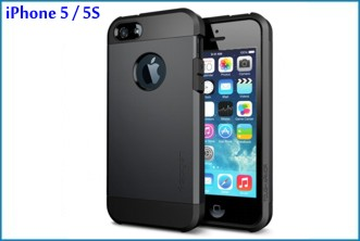 Funda Antigolpes para iPhone 5 / 5S . Negra