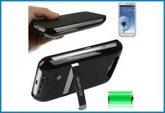 Funda con batería Power Bank con tapa para Samsung Galaxy S3