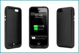 FUNDA BATERÍA POWER BANK PARA IPHONE 5 . NEGRO MATE