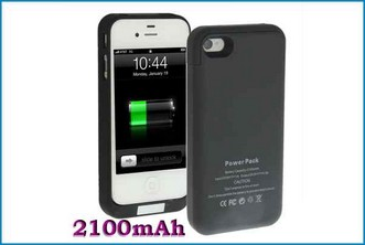 FUNDA BATERIA POWER BANK PARA IPHONE 4 / 4S . NEGRA