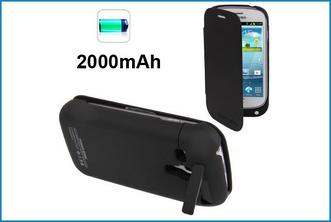Funda con batería Power Bank para Samsung Galaxy S3 Mini . Negra
