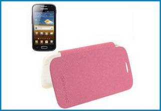 FUNDA FOLIO HORIZONTAL SAMSUNG GALAXY ACE 2 . ROSA