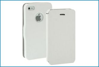Funda Flip Cover para iPhone 4 / 4S . Blanco