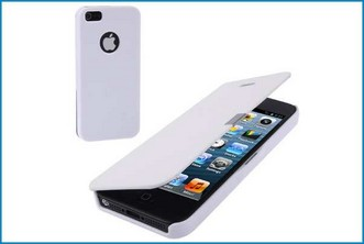 Funda Flip Cover para iPhone 5 . Blanco