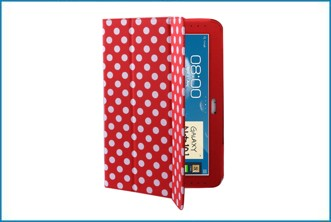 Funda Smart Cover Samsung Galaxy Note 10.1 . Roja Lunares