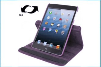 Funda Soporte Giratoria 360� para iPad Mini . Lila