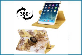 Funda Soporte iPad Mini . Flores Amarillas
