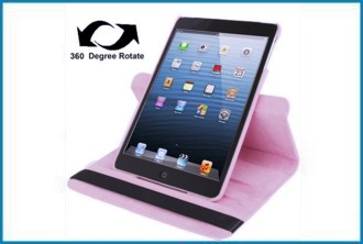 Funda Soporte Giratoria 360� para iPad Mini . Rosa