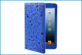 Funda Soporte para iPad Mini . Graffiti Azul