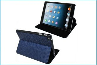 Funda Soporte iPad Mini . Panal Azul
