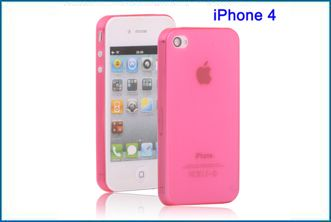 Funda TPU UltraSlim para iPhone 4 , 4S . Fucsia