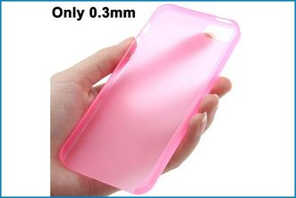 Funda TPU UltraSlim para iPhone 5 . Rosa