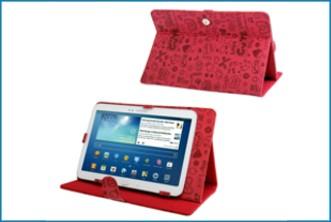 Funda soporte universal tablet 10 1 graffiti roja - Funda universal tablet 10 1 ...