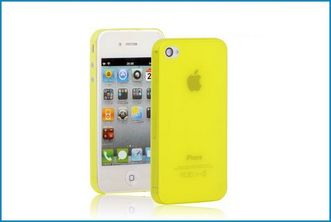 Funda TPU UltraSlim para iPhone 4 , 4S . Amarillo