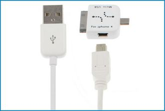 MULTICABLE USB . MICRO-MINI-IPHONE