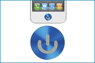 Bot�n Home Adhesivo met�lico iPhone / iPad / iPod . Azul
