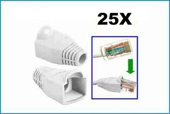 Protector Conector RJ45 Blanco - Pack 25 unds