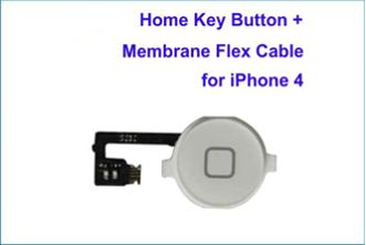 REPUESTO FLEX BOTON HOME IPHONE 4 . BLANCO