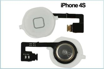 REPUESTO FLEX BOTON HOME IPHONE 4S . BLANCO