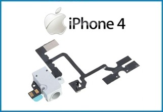 REPUESTO CABLE CONECTOR FLEX AUDIO. IPHONE 4 . BLANCO