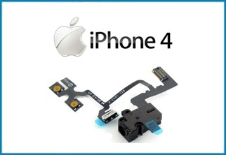 REPUESTO CABLE CONECTOR FLEX AUDIO. IPHONE 4 . NEGRO