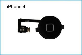REPUESTO FLEX BOTON HOME IPHONE 4 . NEGRO
