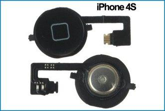 REPUESTO FLEX BOTON HOME IPHONE 4S . NEGRO