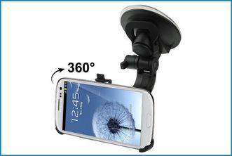 Suction Cup Car Holder for Samsung Galaxy SIII / i9300
