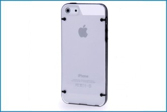 Funda Trasera iPhone 5 . Transparente / Borde Negro
