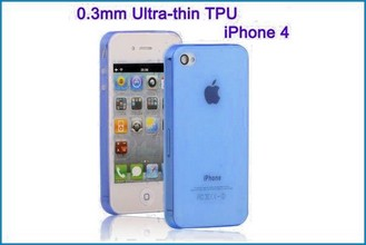 Funda TPU UltraSlim para iPhone 4 , 4S . Azul