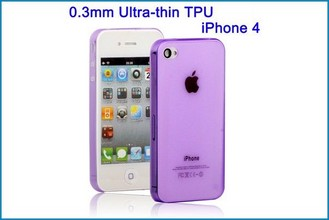 Funda TPU UltraSlim para iPhone 4 , 4S . Lila