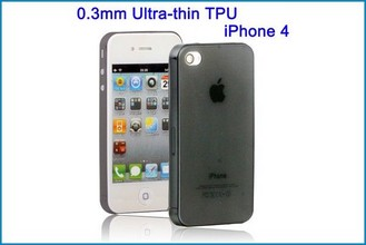 Funda TPU UltraSlim para iPhone 4 , 4S . Negra