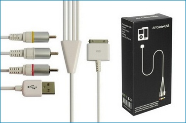 Cable AV/TV para iPhone / iPod